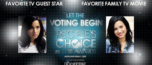 Demi est nominée aux People's choice awards !