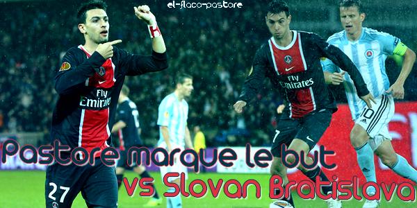 4ème journée de l'EUROPA LEAGUE, Paris Saint-Germain - Slovan Bratislava : 1-0 (0-0)