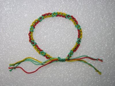 Macramé : bracelet 1