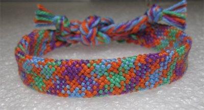 Kumihimo : bracelet creux 4