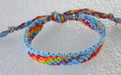 Macramé : bracelet 7