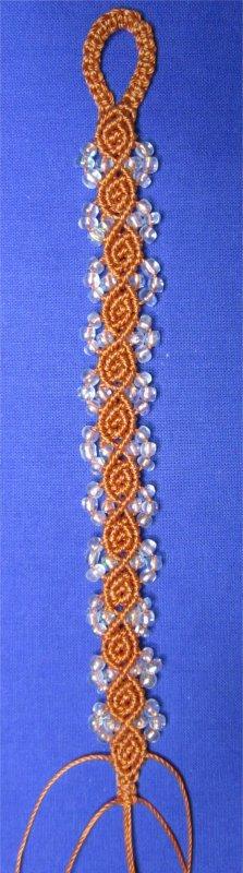Macramé : bracelet Rosebud