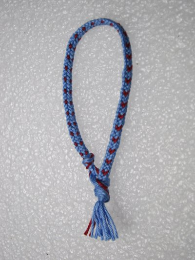Kumihimo : bracelet plat 1