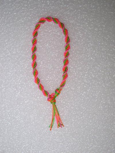 Kumihimo : bracelet en spirale 5