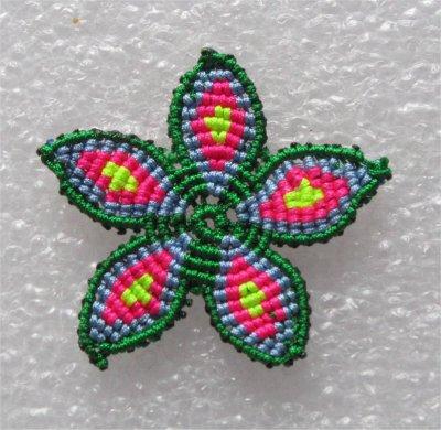Macramé : une fleur 1