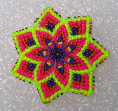 Macramé : mandala étoile 1