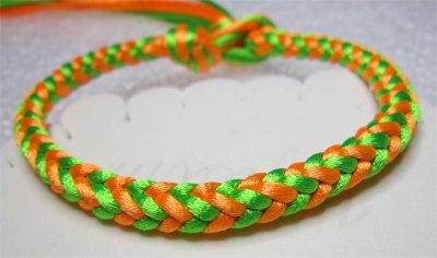 Kumihimo : bracelet tresse carrée 2