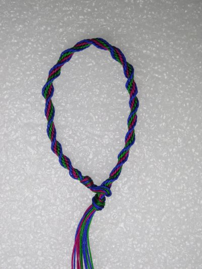 Kumihimo : bracelet en spirale 10