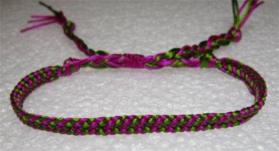 Kumihimo : bracelet plat à chevron 2