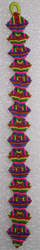Macramé : bracelet Zolino multicolore 2