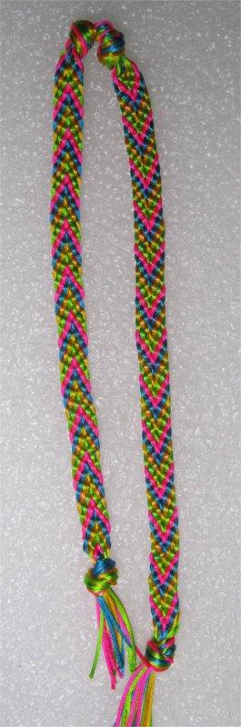 Kumihimo : bracelets chevrons 6 et 7