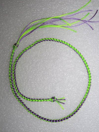 Kumihimo : un collier en tresse carrée 1