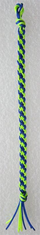 Kumihimo : bracelet plat à rayures obliques 7