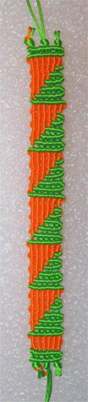 Macramé : bracelet Cavandoli 5