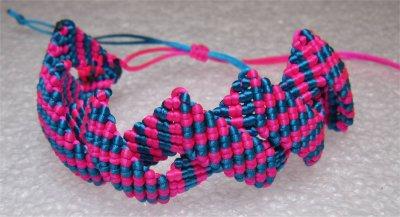 Macramé : bracelet Zig-Zag 3