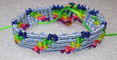 Macramé : bracelet Cavandoli 6