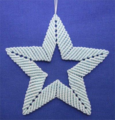Macramé : une étoile 1