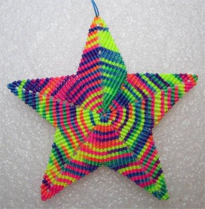 Macramé : une étoile 2