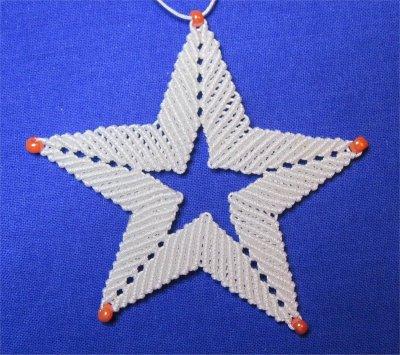 Macramé : une étoile 3