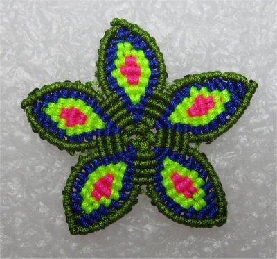 Macramé : une fleur 2