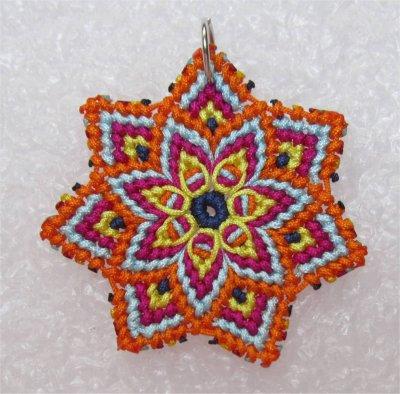 Macramé : mandala étoile 2