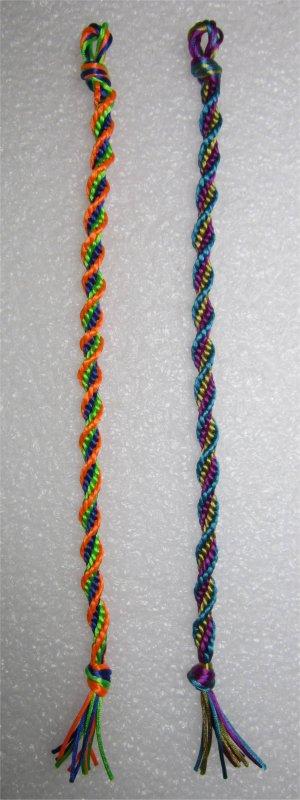 Kumihimo : bracelet en spirale 15 et 16