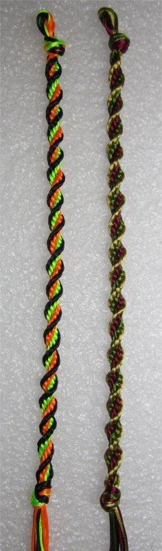 Kumihimo : bracelet en spirale 17 et 18