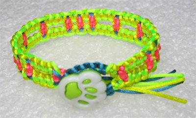 Macramé : bracelet noeuds carrés 1