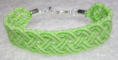 Macramé : bracelet celtique 5 monté