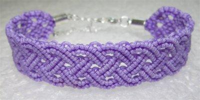Macramé : bracelet celtique 7 monté