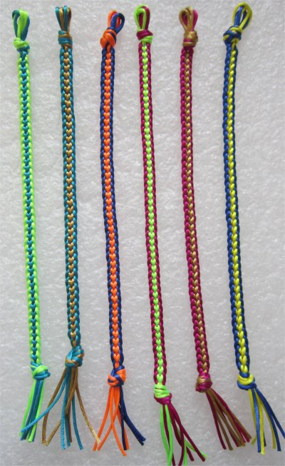 Kumihimo : bracelets plats chainettes 5 à 10