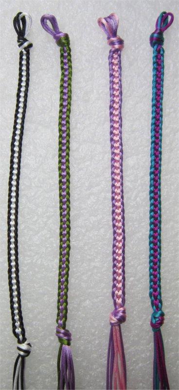 Kumihimo : bracelets plats chainettes 11 à 14