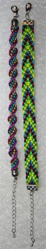 Kumihimo : 2 bracelets montés