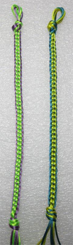 Kumihimo : bracelets plats chaînettes 23 et 24
