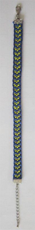 Kumihimo : bracelet chevron 14 monté