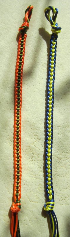Kumihimo : bracelets plats chaînette 35 et 36