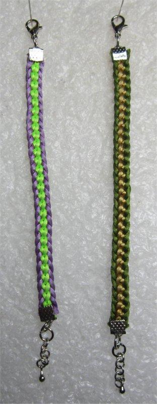 Kumihimo : bracelets plats chaînette 19 et 23 montés