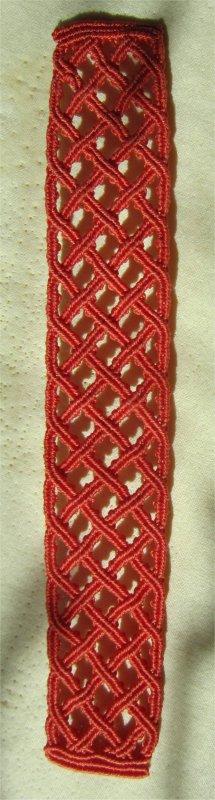 Macramé : bracelet celtique 24