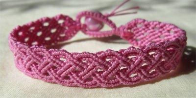 Macramé : bracelet celtique 25