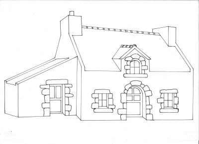 Dentelle : ma petite maison bretonne
