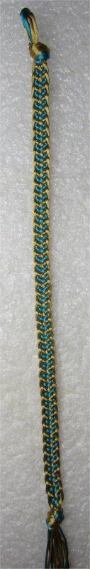 Kumihimo : bracelet chevron 18