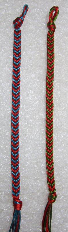 Kumihimo : bracelets chevrons 19 et 20