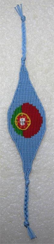 Macramé : bracelet foot Portugal