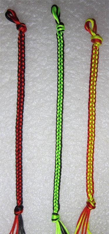 Kumihimo : bracelets plats chaînettes 37, 38 et 39