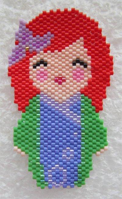 Perles : kokeshi Ariel