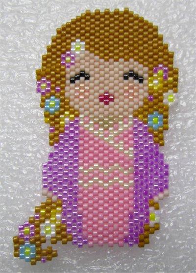 Perles : kokeshi Raiponce