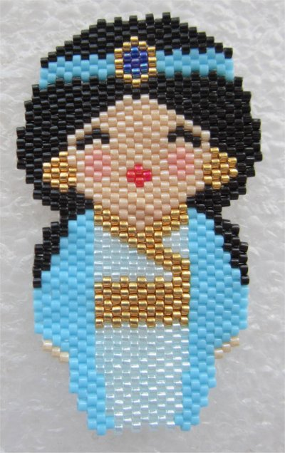 Perles : kokeshi Jasmine
