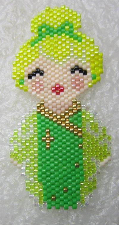 Perles : kokeshi Fée Clochette