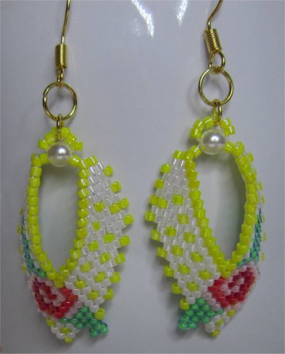 Perles : boucles d'oreilles 11