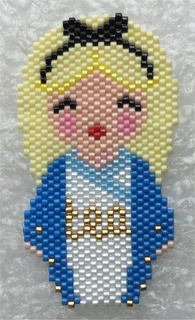Perles : kokeshi Alice